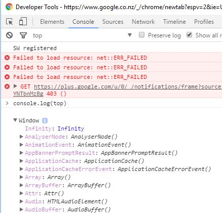 Browser dev tools and javascript's console.log post image