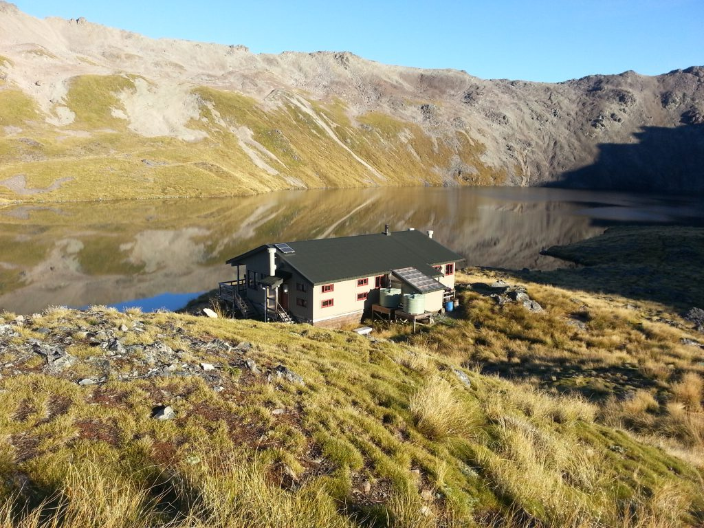 The Hut nestled above Lake Angelus