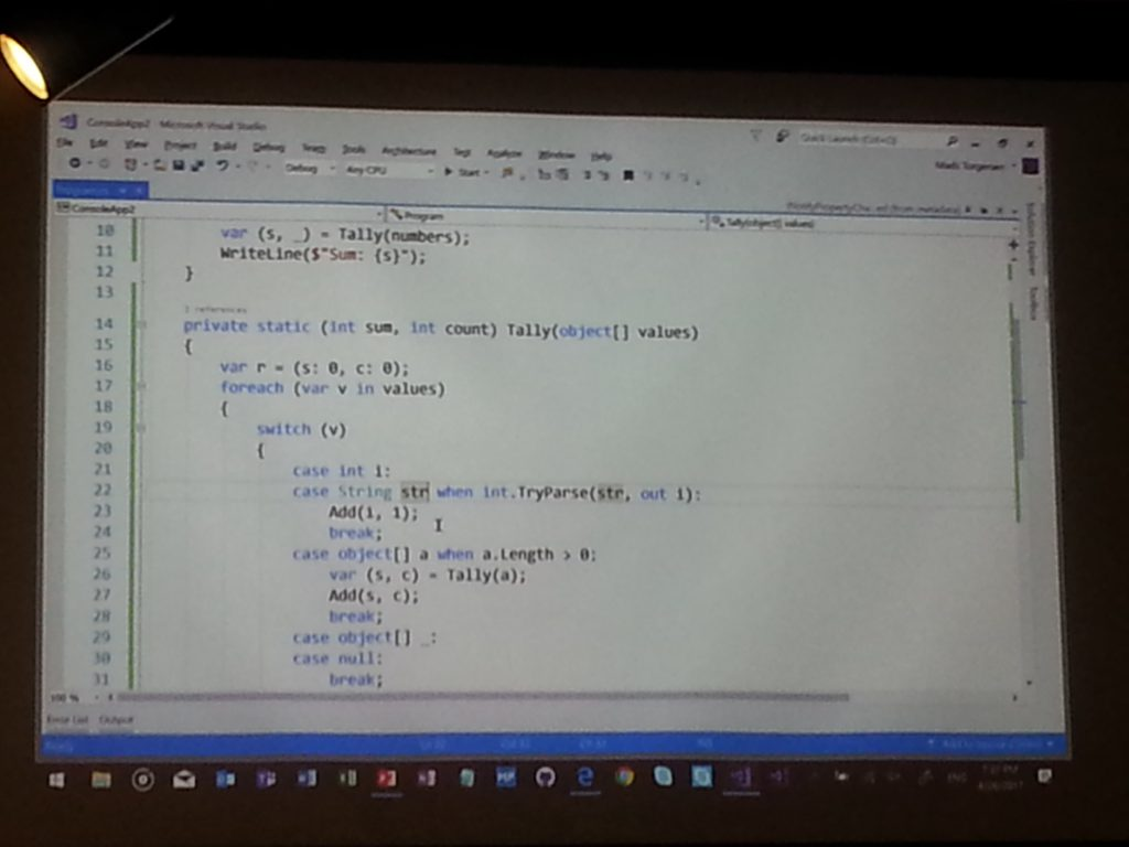 C#7 MeetUp with Mad Torgersen featured image